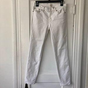J Crew White Toothpick Skinny Jeans